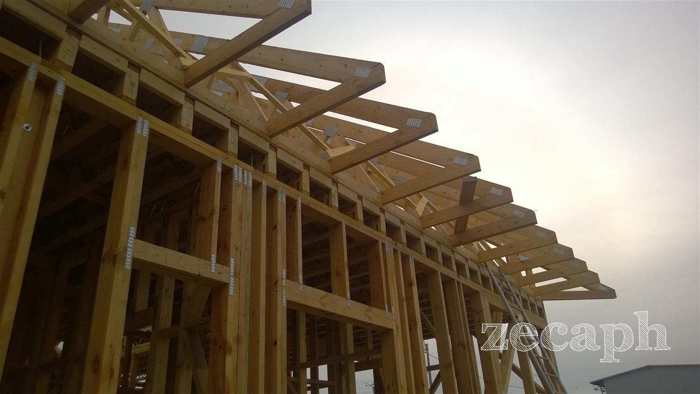 zecaph zero carbon passive house  timber frame structure (6)